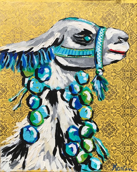 Llama 5 Marian Pouch Find Your Joy Greenville SC Local artist painting acrylic bright color colorful..jpg