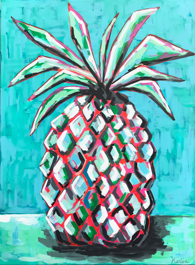 Pineapple 1Marian Pouch Find Your Joy Greenville SC Local artist painting acrylic bright color colorful..png