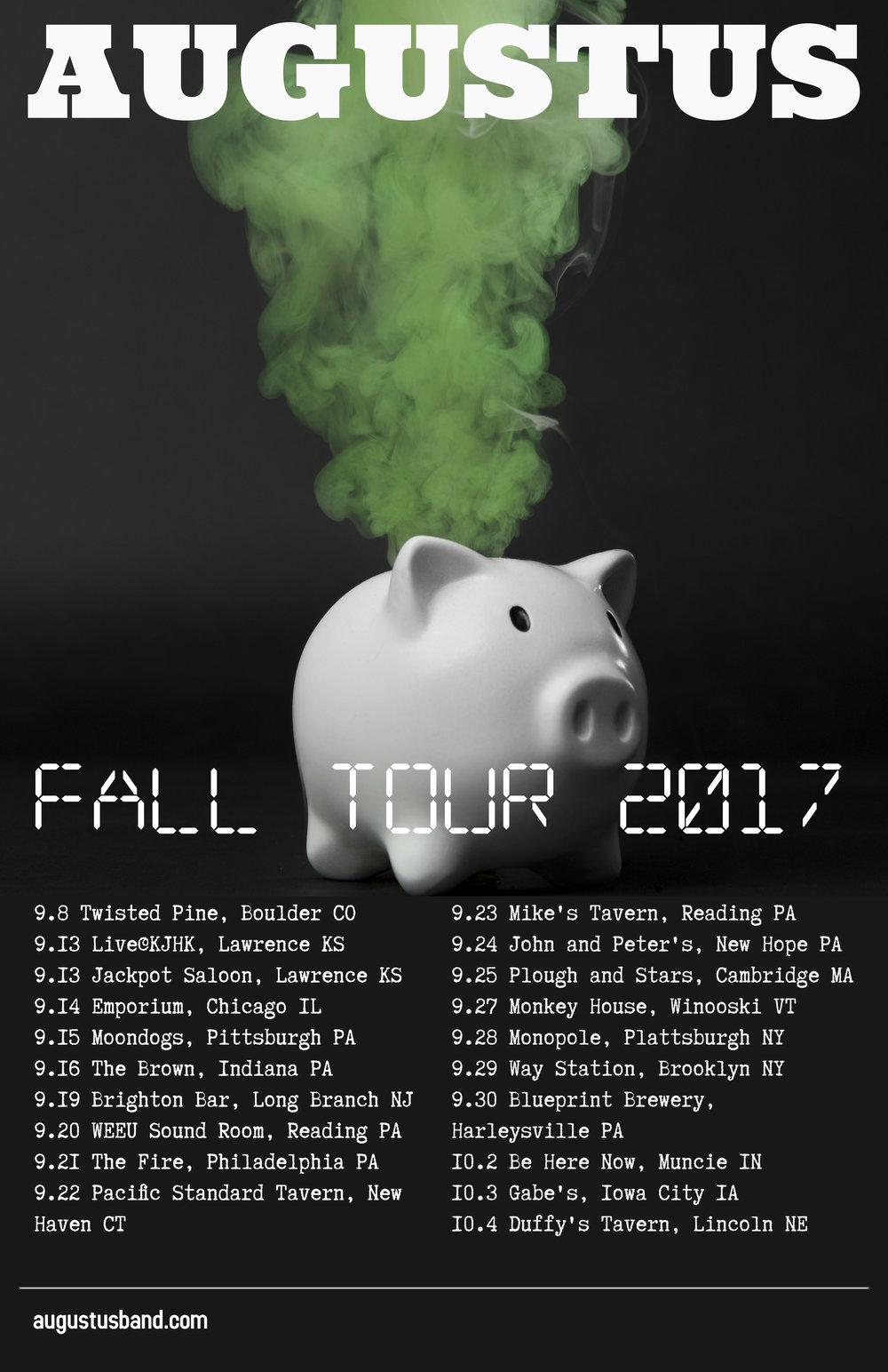 Augustus announces fall tour augustus fall tour poster 2017g malvernweather Gallery