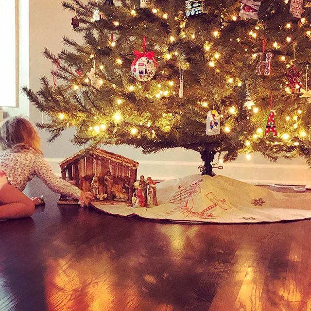 """Christmas magic✨ Ralphie @simplyonpurpose ran the campaign #iamthiskindofmom last week, but I can't get it out of my head...#betterlatethannever  I am not a play non-stop make believe mom  I am not a creative meals mom  I am not an endlessly patient mom  BUT  I am a """"yes you can help with this chore and that project """" mom  I am a """"yes let's make pancakes, bake cookies, etc"""" mom  I am a """"color for hours"""" mom  I am """"try new things, you can do it, try again"""" mom  I am a """"hug whenever you want it"""" mom  I am an """"I love you forever no matter what"""" mom  I'm learning, just like her, and that feels good. Let's call this an introduction and welcome to my new feed!"""