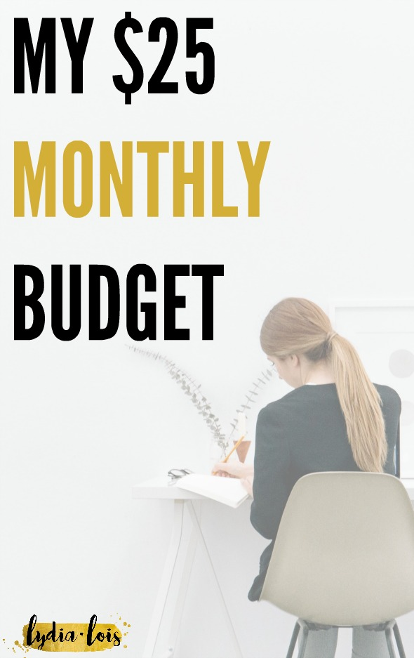 If you think that it's impossible to spend less, save money, budget, and still enjoy everything you love, think again! I do it every month with a budget of only $25. Click through to see what I spend it on and how I do it!