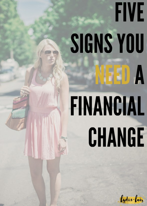 When you feel like you are drowning in debt, a budget is too confusing, yet you have no idea where all your money went it's time to make some financial changes! Let me help you and your bank account by giving you five signs you need a financial change and then what to do about it!