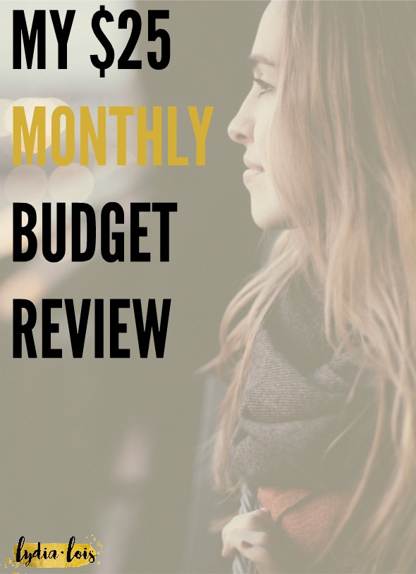 Do you ever think that there is no way you could cut back your spending? That you don't really spend that much every month already? Want to know how I use a $25 monthly budget for everything I want and still live a full life? Click through to read my monthly budget reviews or pin now and read later! Either way, I can help you out! ;)