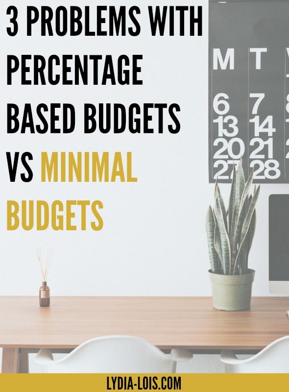 Have you ever wondered exactly what living minimally meant? Or how to budget? Or if there were different types of budgets? I've been talking all month about my minimal budgets, but today I'm talking about why I do minimal budgets vs. percentage based budgets! Click through to read more!