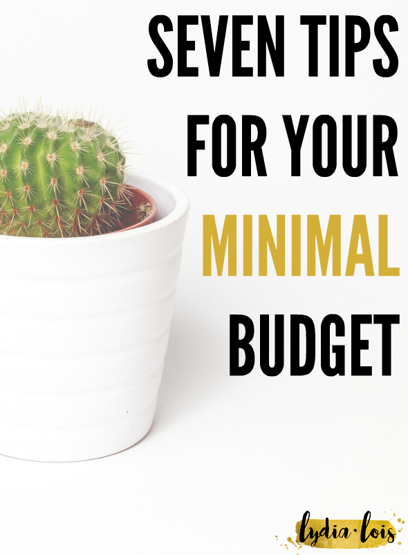 If you are struggling with creating or maintaining your minimal budget here are a few tips to help you keep moving forward with your goals. Click through to read seven of my tips for your minimal budget!