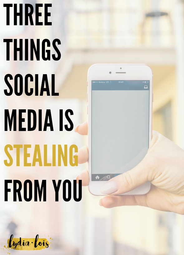 If you've ever wondered how you could be more productive, how you could find contentment, or have better relationships then this article is for you! Social media is a great tool but when used for too long or for the wrong reasons can become destructive. Click through to read the three things that social media is stealing from you that you might not even realize!