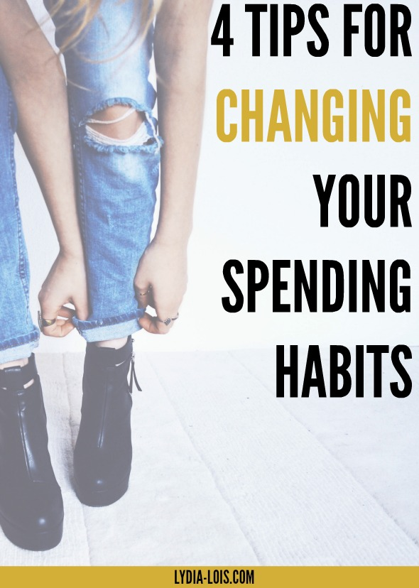 Four tips for changing your spending habits for the better and move towards minimal spending.