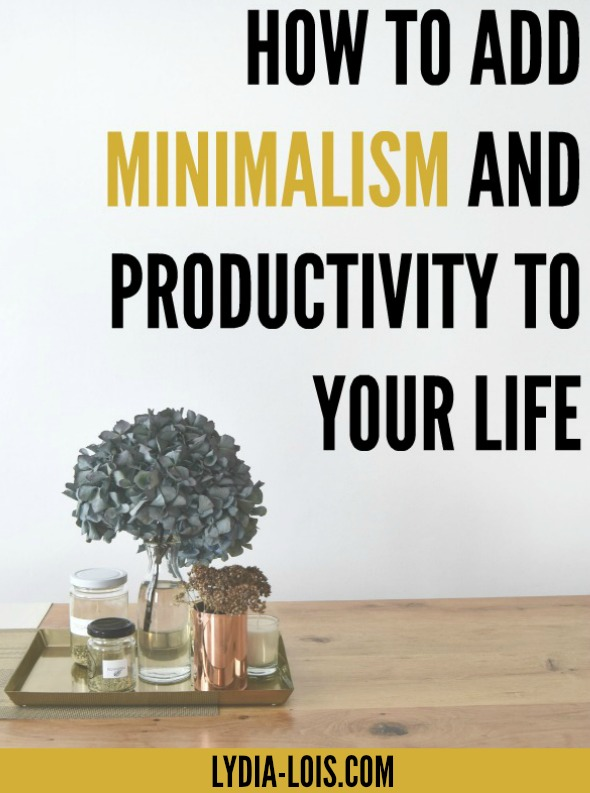 Want to learn how to be productive and simplify your life at the same time. Minimalism allows you to focus on what matters and put your energy towards that!