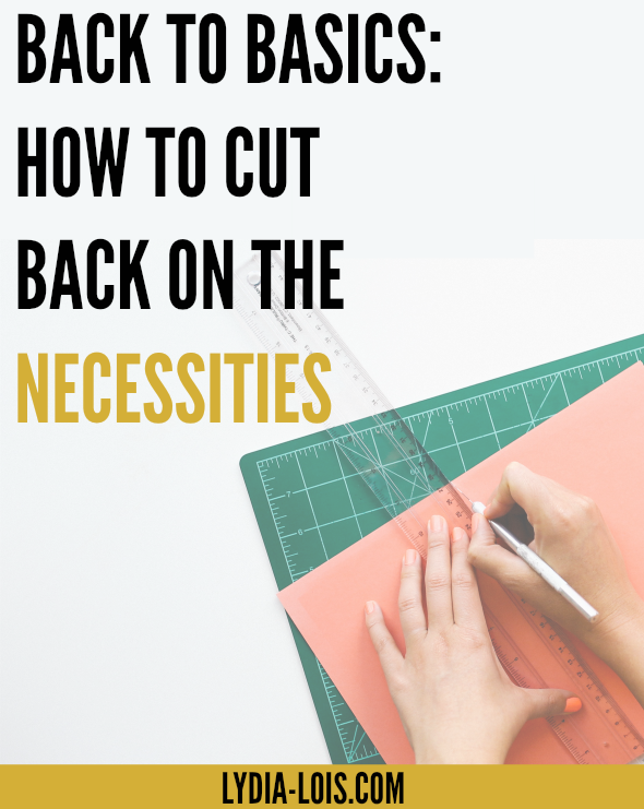 Feeling like your paying too much for your basic needs and not sure how to cut back? Click through to read about how to not overindulge and cut back on the necessities!
