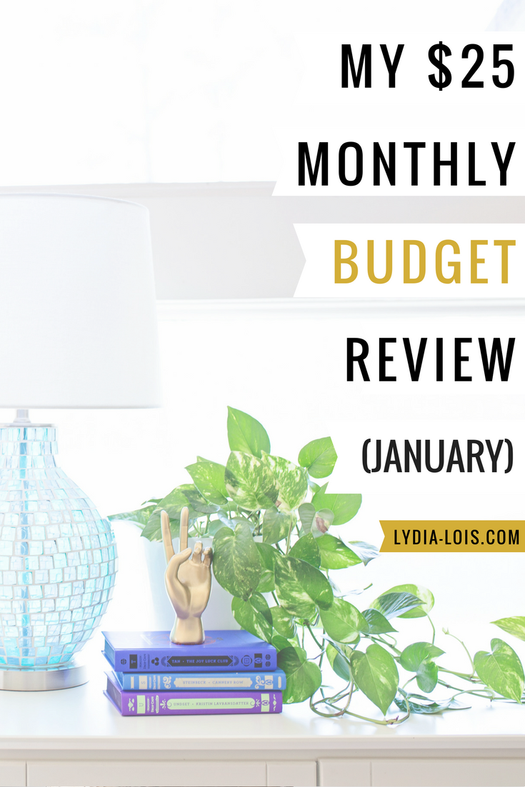 My $25 monthly budget review january.png
