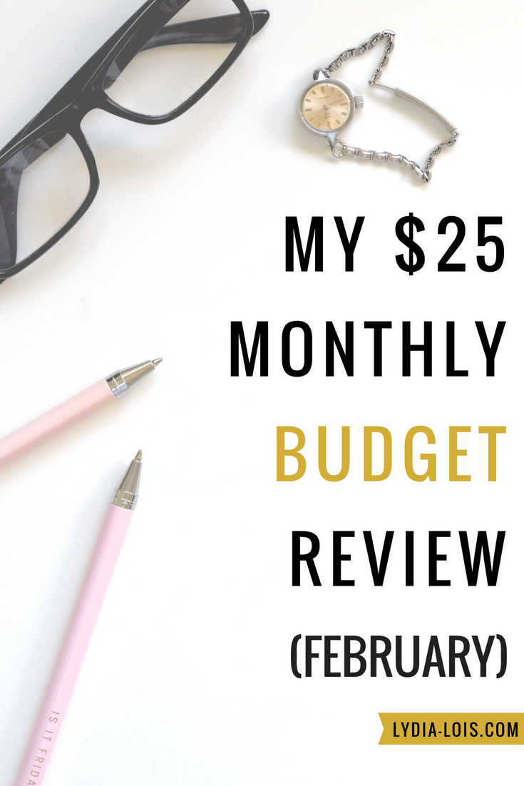 My $25 monthly budget review february.png