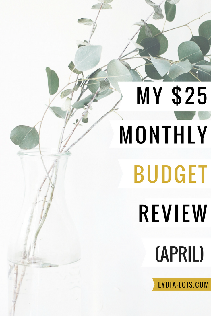 My $25 monthly budget review april.png