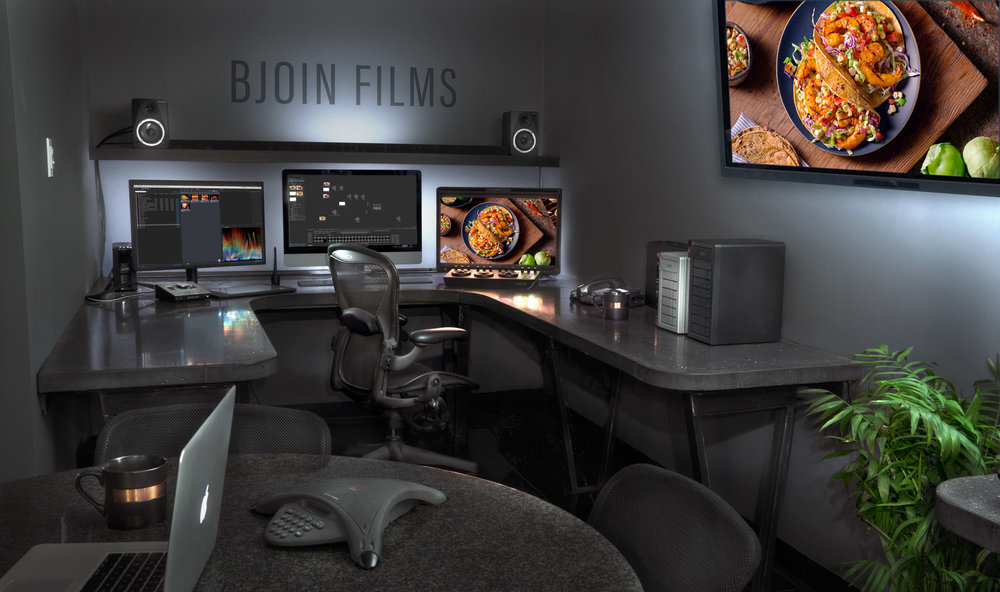 FINISHING SUITE - We like to finish what we start. Whether you simply want great dailies, or final color with compositing and visual effects, we have firepower and expertise at the ready in our main suite.