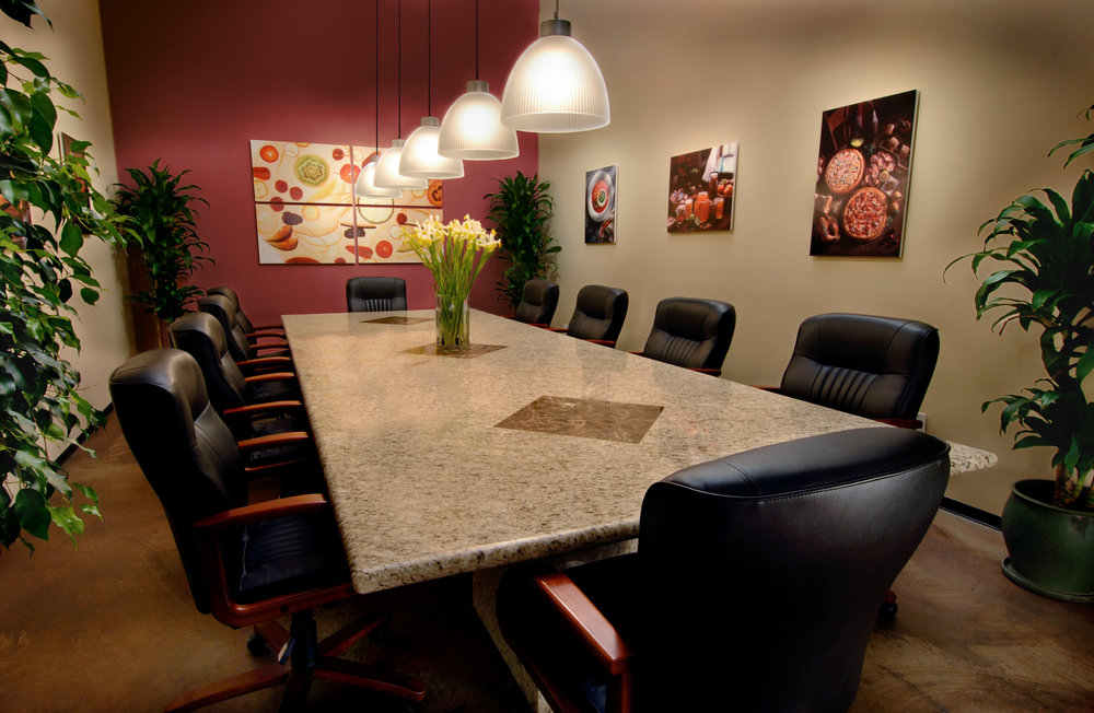 conference room - Great for pre-production meetings and conference calls, our open and inviting conference room welcomes you into the building.