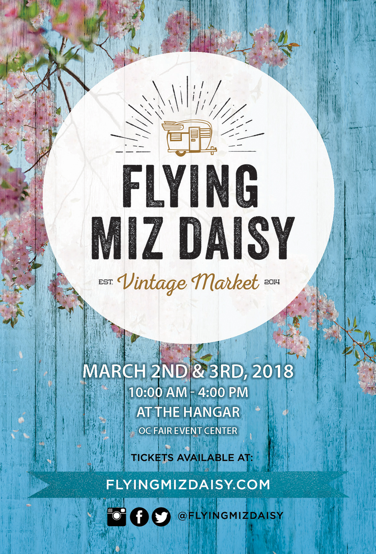 Flying Miz Daisy Spring Postcard