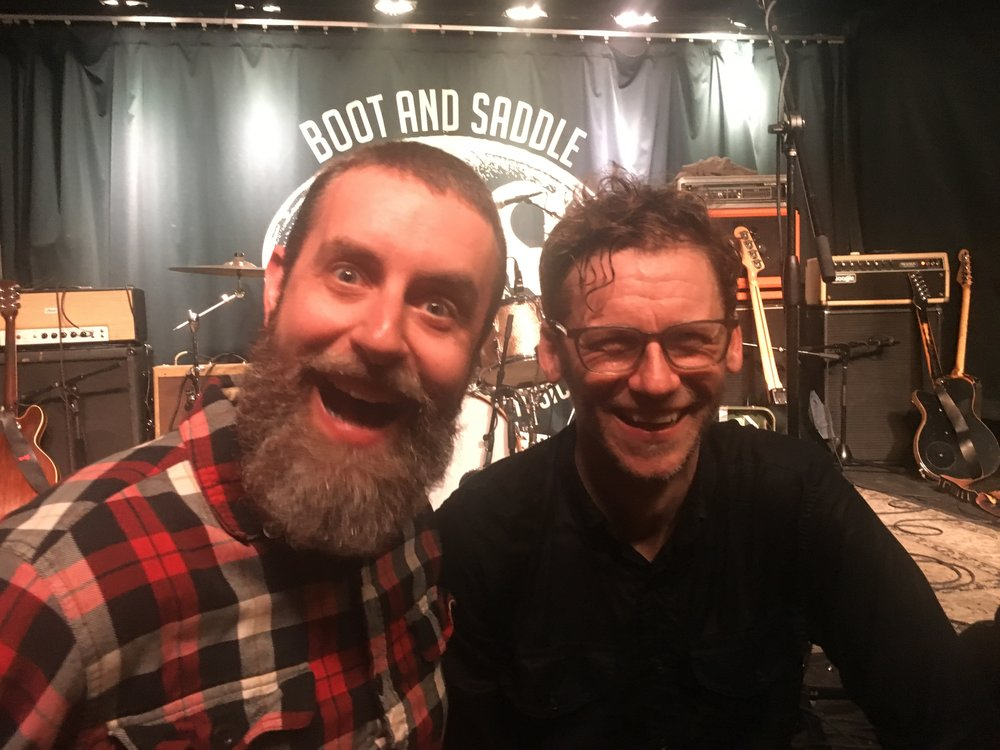 Me and Andy right after his recent sold out Lefty's Deceiver show at the Boot and Saddle.