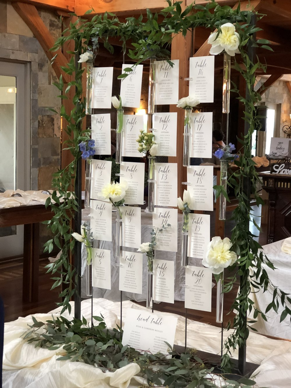We love this for seating chart displays!