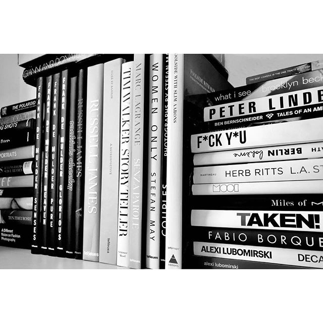 books. #photography #art #collection  #books #photographer #private #library #pictures #leica #peterlindbergh #alexilubomirski #rankin #herbritts #frankdemulder #timwalker #gabo #marclagrange #russeljames #benbernschneider #oliverrath #brooklynbeckham #jeanloupsieff