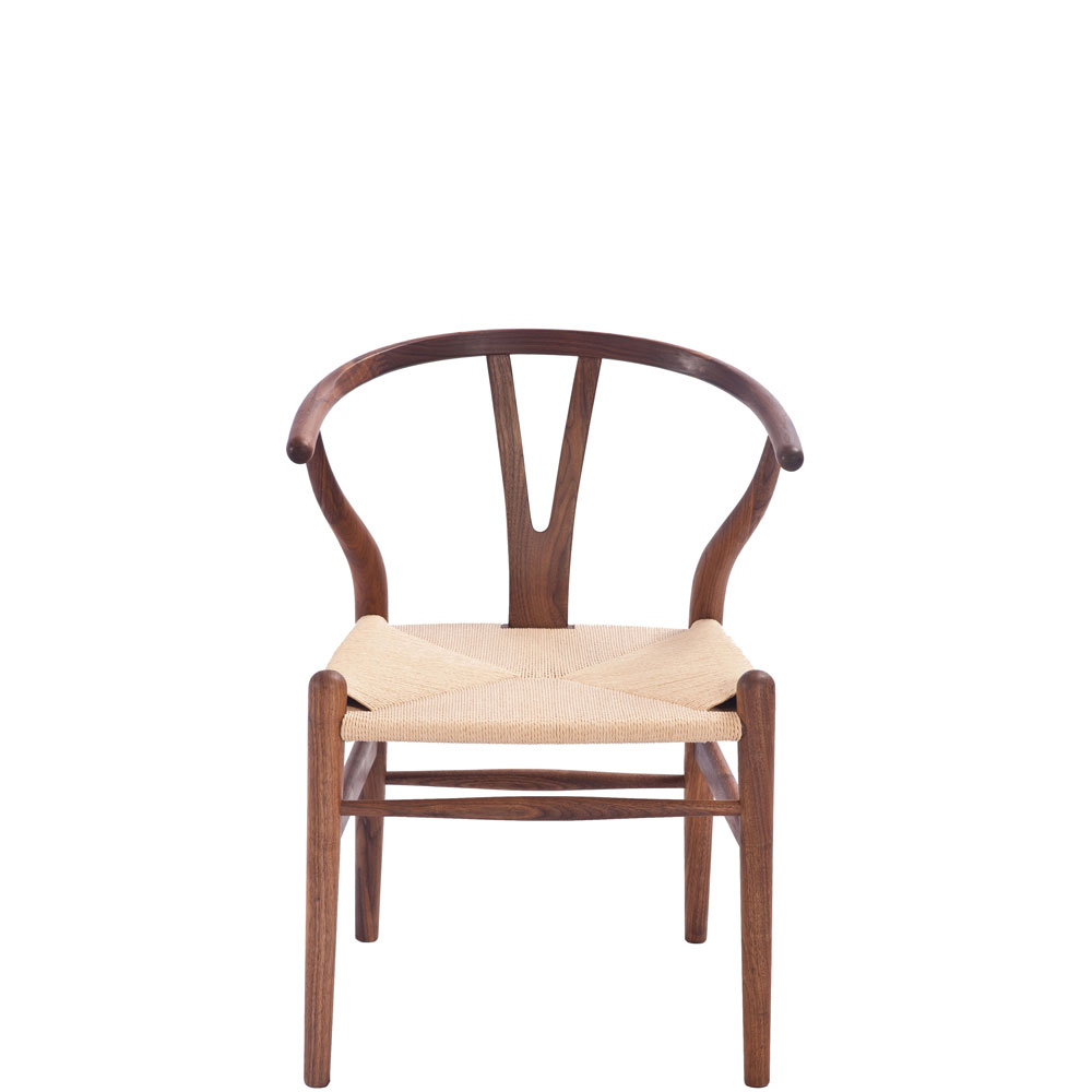 Hans Wegner Style Wishbone Chair Walnut Stain (Ireland Exclusive)