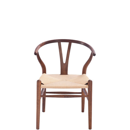 hans wegner style wishbone chair walnut stain ireland exclusive