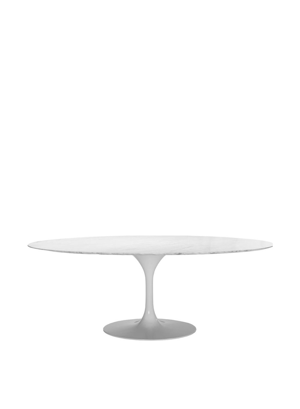 Saarinen Style Oval Dining Table White Laminate Cm Diameter - Saarinen table white laminate