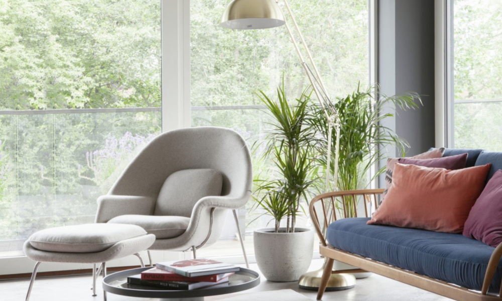 Kingston Lafferty Designs   Marianella apartments by Cairn homes Rathgar - Saarinen-style womb chair & Ottoman. Photo: Ruth Maria Photograhy