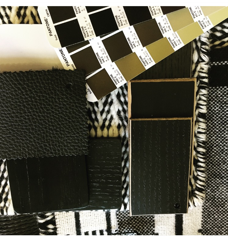Black leathers and woods teamed with beautiful monochrome textures.