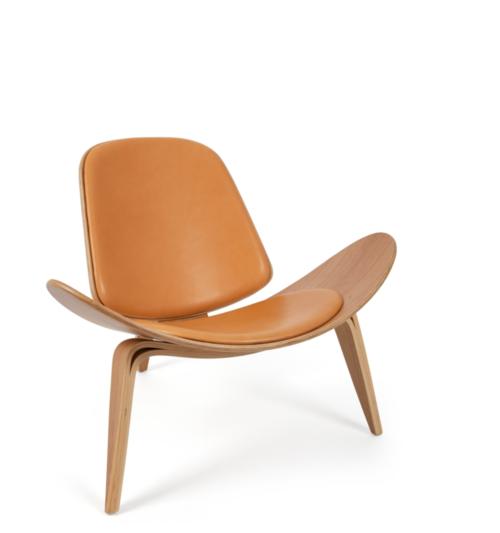 hans wegner style leather shell chair ireland exclusive ca design