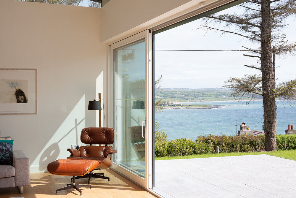 Room To Improve   Architect and broadcaster, Dermot Bannon collaborated with CA Design on numerous projects for his RTÉ show using the Le Corbusier and Eames-style furniture to furnish extensions and new builds. Photo credit: Alice Clancy