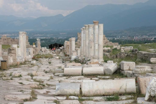 The ruins of the City of Laodicea in Asia Minor (Turkey)