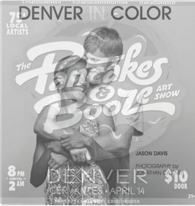 DENVER IN COLOR x Art, Pancakes and Booze! This Saturday, April 14th @ 8pm #DenverInColor will be at Cervantes' Masterpiece & Ballroom for the Pancakes and Booze Art Show 🎨 🍴 🥃 @pancakesandbooze  #DenverInColor #PancakesandBooze #Cervantes #cervantesdenver #Love #Denver #Equality #Racism #FightRacism #Interracial #interraciallove  #romance  #lovehasnocolor #multiracial #selfpublished #documentaryphotography #bookporn #blackandwhite  #blackandwhitephotography #diversity #standagainsthate #booklove #blackwhitedating #bookstagram #photography #lovehasnocolor #bookphotography #blackandwhitephoto #universityofcolorado #universityofcoloradodenver