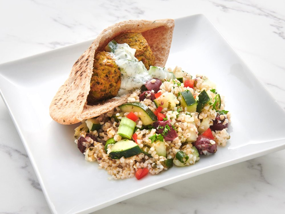 Greek Pita with Tabouli Salad