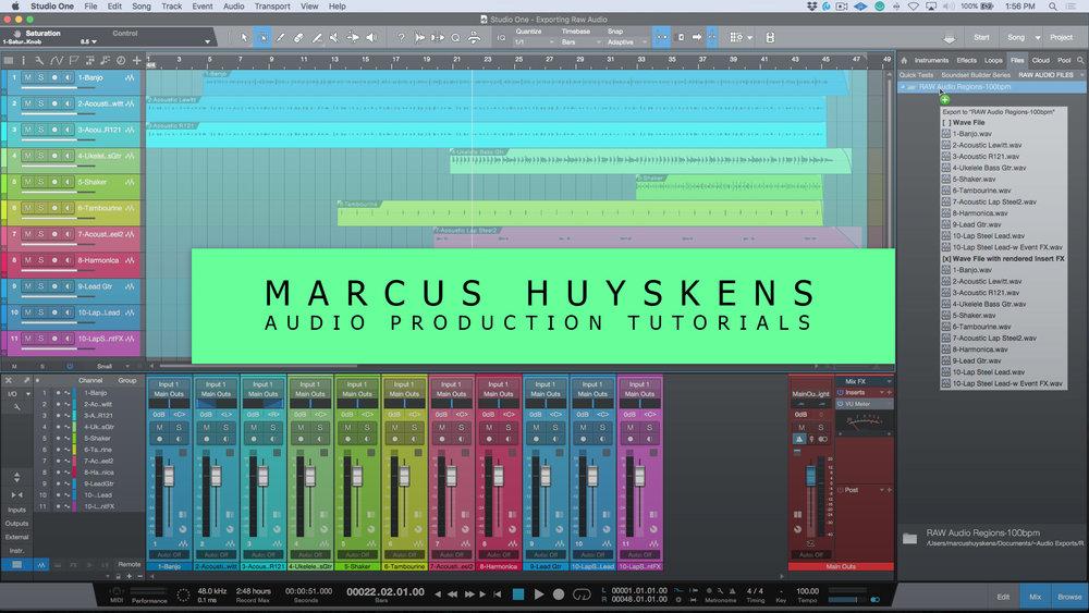Free Studio One Tutorials — Marcus Huyskens