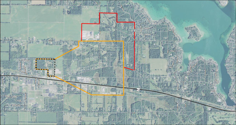 An updated map of the expanded Richland Township testing area. Courtesy of the Kalamazoo County Government Health & Community Services Department