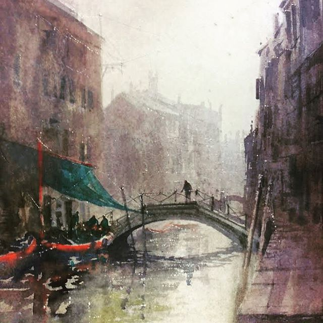 UNLOADING . . . . Today I'm opening my stand up at the @bathartfair and giving you a taster of what's on offer. . . . . Herewith a #watercolor I created in #pleinair in #venice. I love venice for its #architecture #history and #art culture. Come and see this painting up close at the @bathartfair this Friday and Saturday. . . . #artoftheday #artistsofinstagram #veniceart #venicewatercolour #watercolorpainting #artandculture  #atmosphere