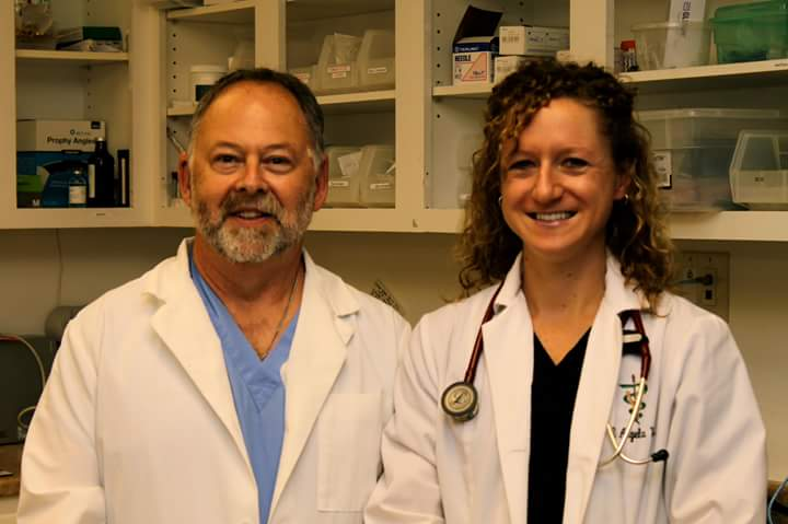 Jonathan Grant, DVM and Angie Wood, DVM of the Scaredy Cat Hospital