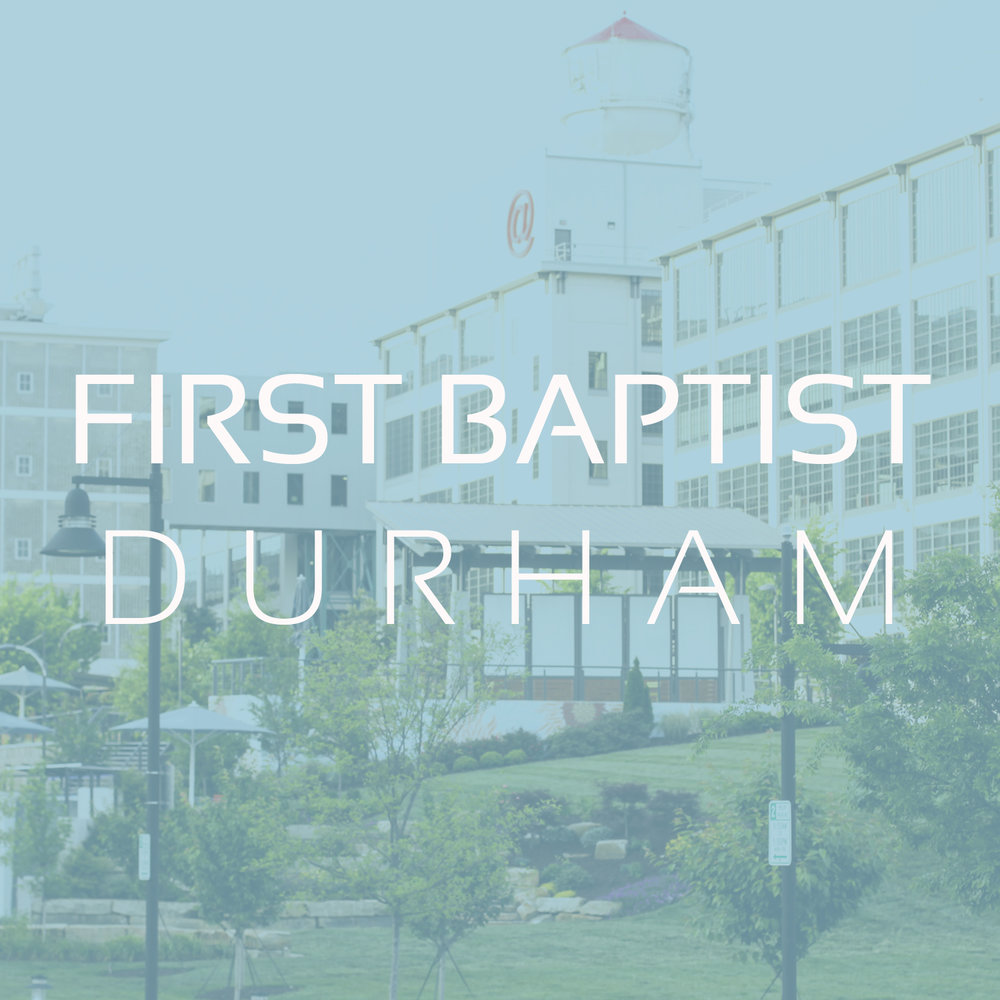 DURHAM, NC    FBC Durham  is a historic, sending church led by pastor Andy Davis. At FBC Durham, they put the transforming power of the gospel on display on Sunday mornings during our worship, and throughout the week via ministries.