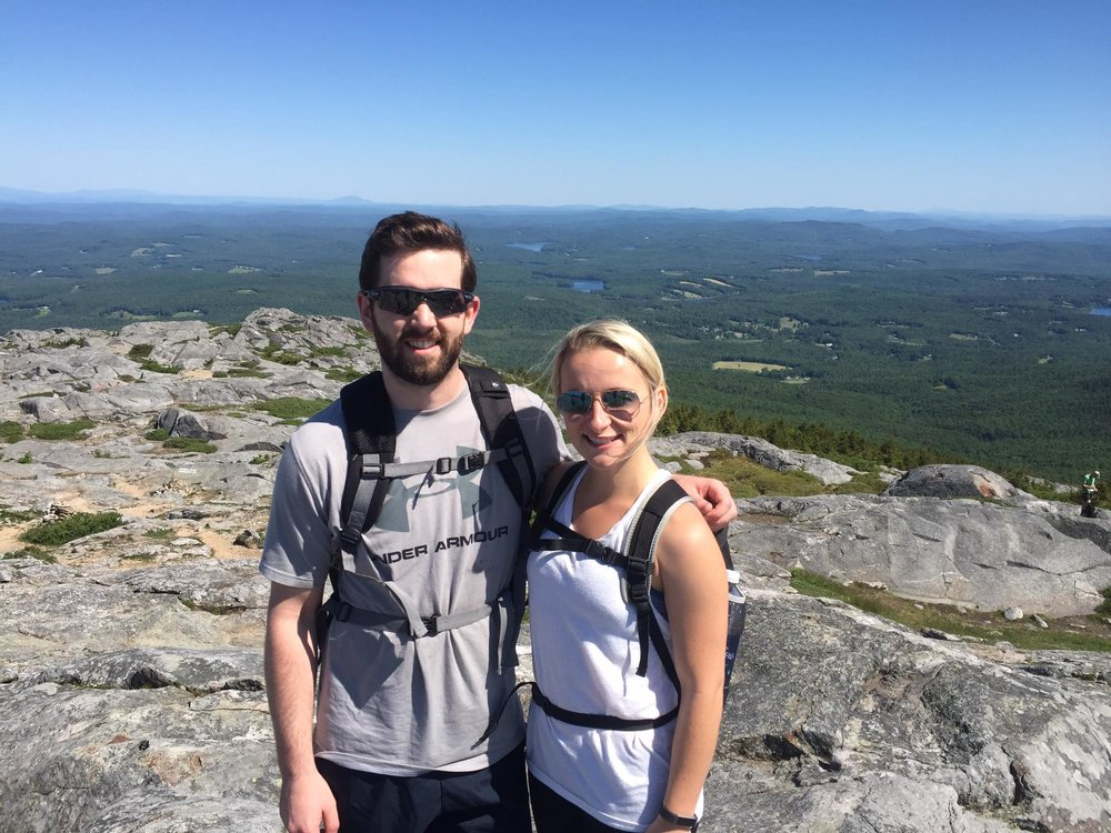 Reese and I hiking Mt. Monadnock in New Hampshire!