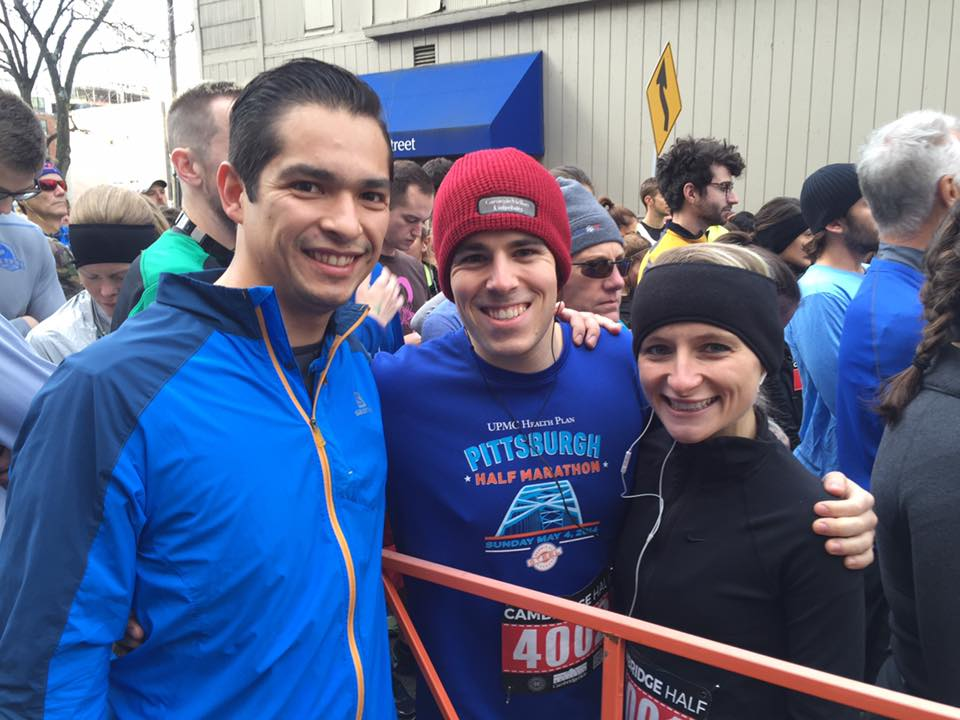 Me at the Cambridge Half Marathon 2016 with fellow Ph.D. students Zach Branson and Luis Campos.