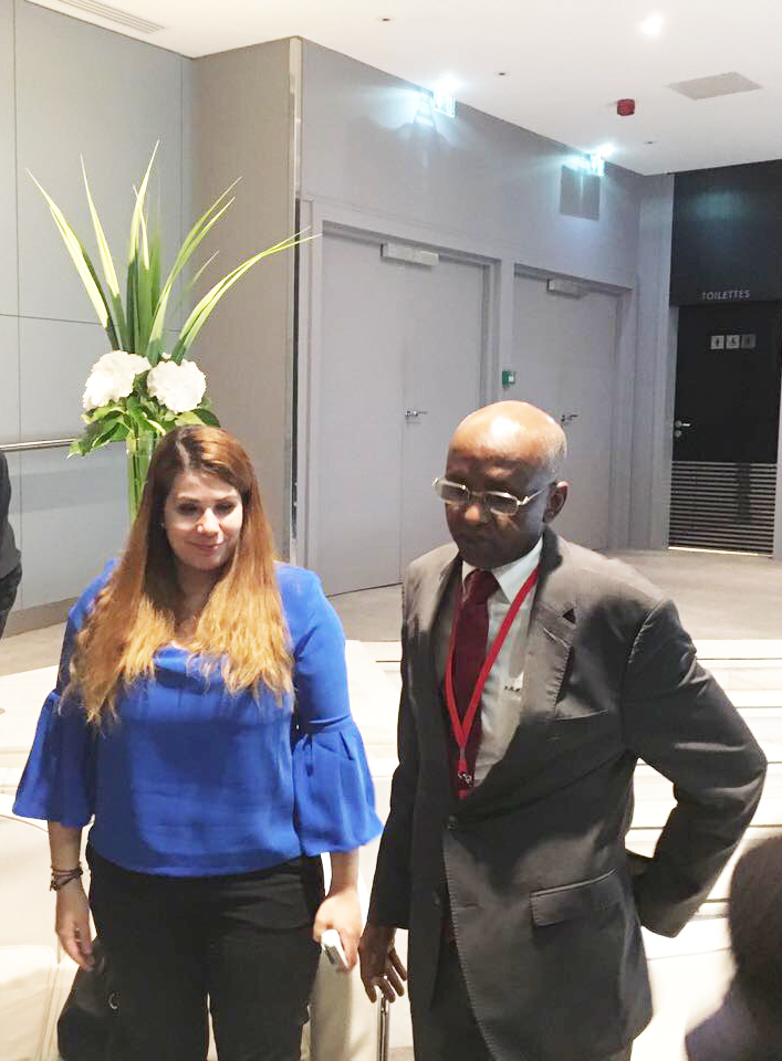 Chryssa Tsouraki, Managing Director, IN-VR Oil & Gasduring their meeting with the National Oil Company of Chad.
