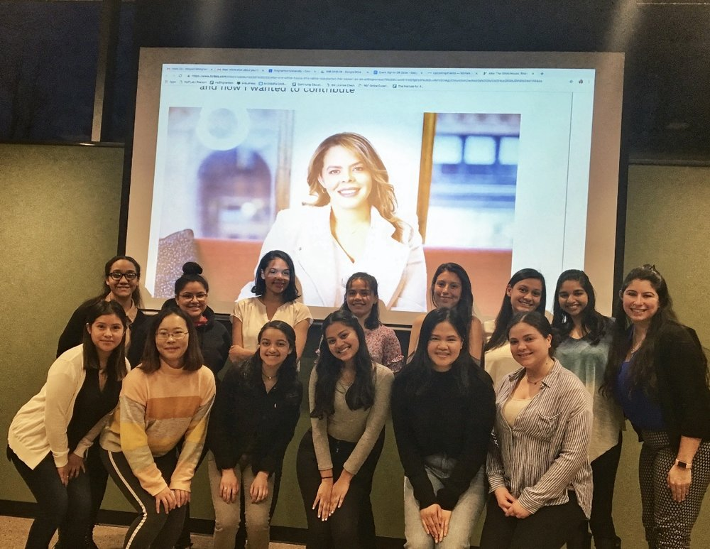 Binghamton University -Women in Business Group  - My job today was to inspire the amazing women at @binghamtonu but instead they all inspired and motivated me to keep building a runway so we can all soar. Thank you so much for inviting me to speak to you about my career journey.