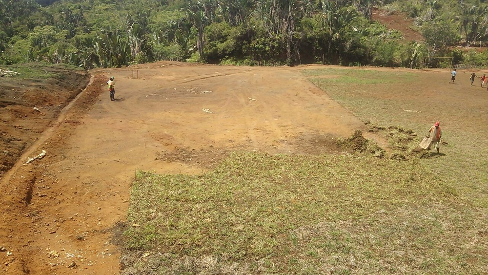 New soccer field for the community