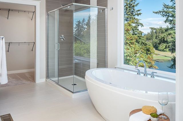 We love this bathtub view from our model home in Lake Ridge. Come see us this weekend for a tour!