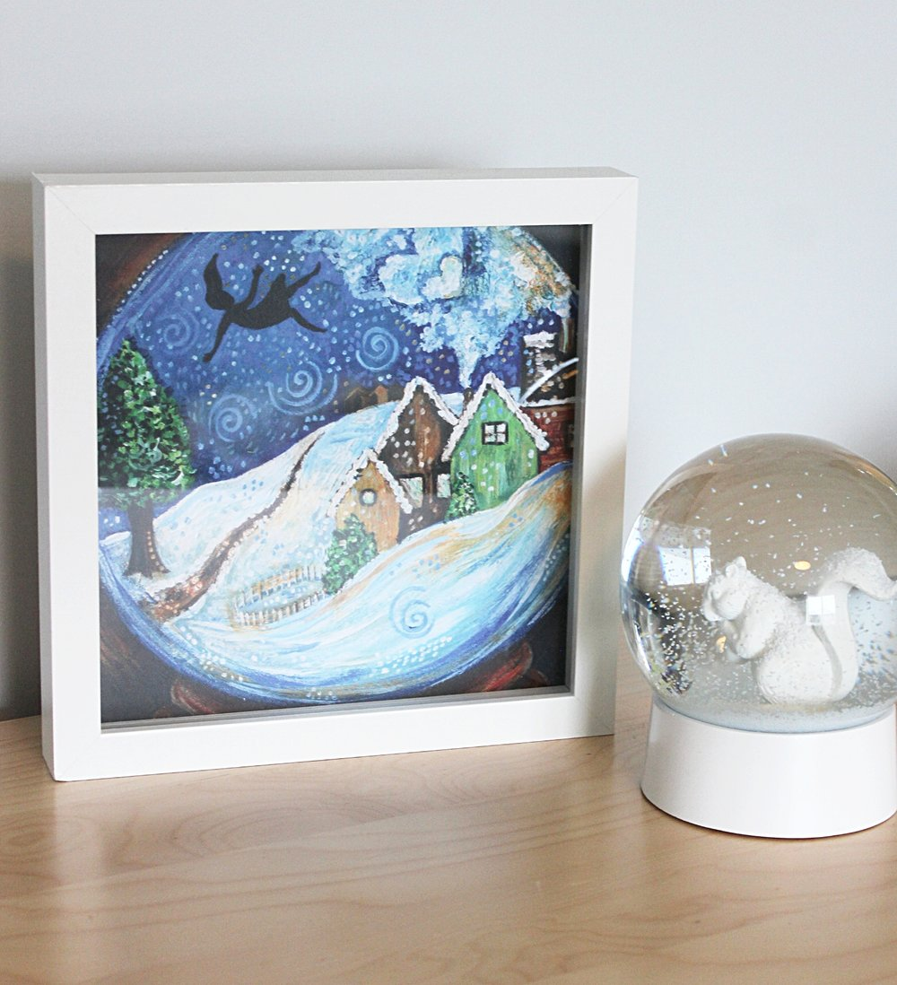 snowglobe with snowglobe on dresser.JPG
