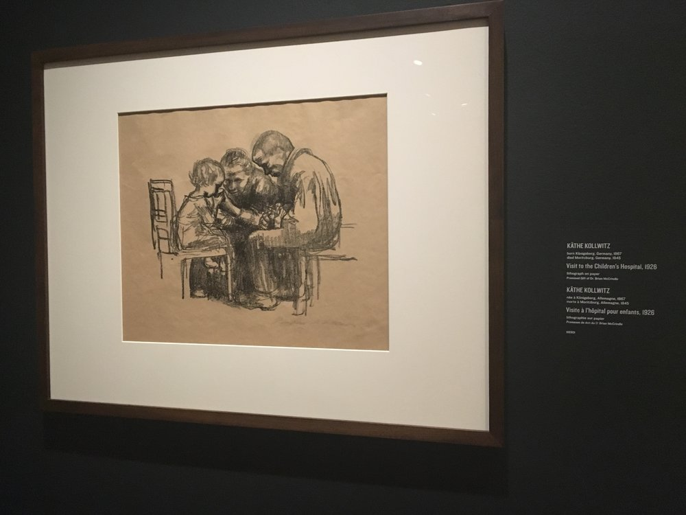 """Visit to the children's hospital"" 1926 by Katie Kollwitz"