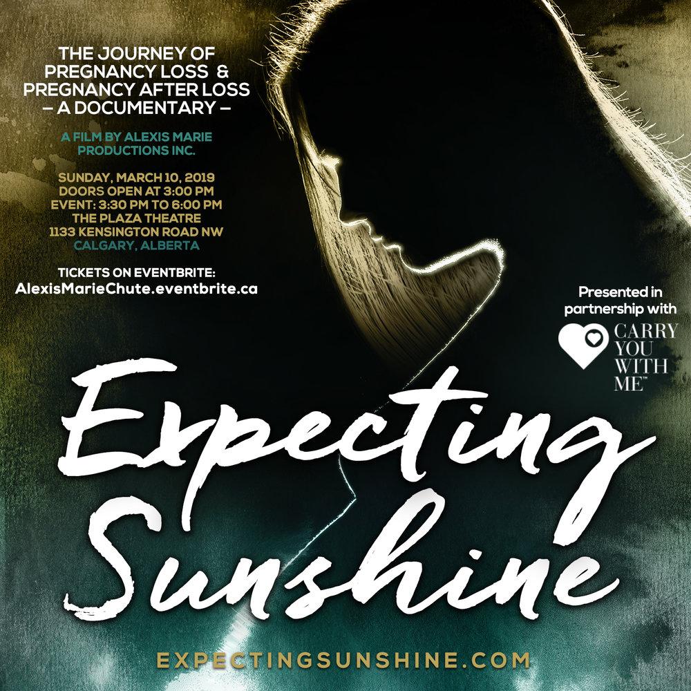 Expecting Sunshine Movie Poster 11x17 - SCREENING INFO CALGARY -sq.jpg