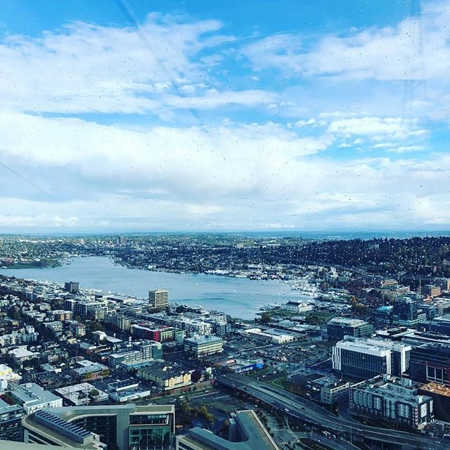 Turns out it was a good day to go up to the top of the Space Needle. 🌥