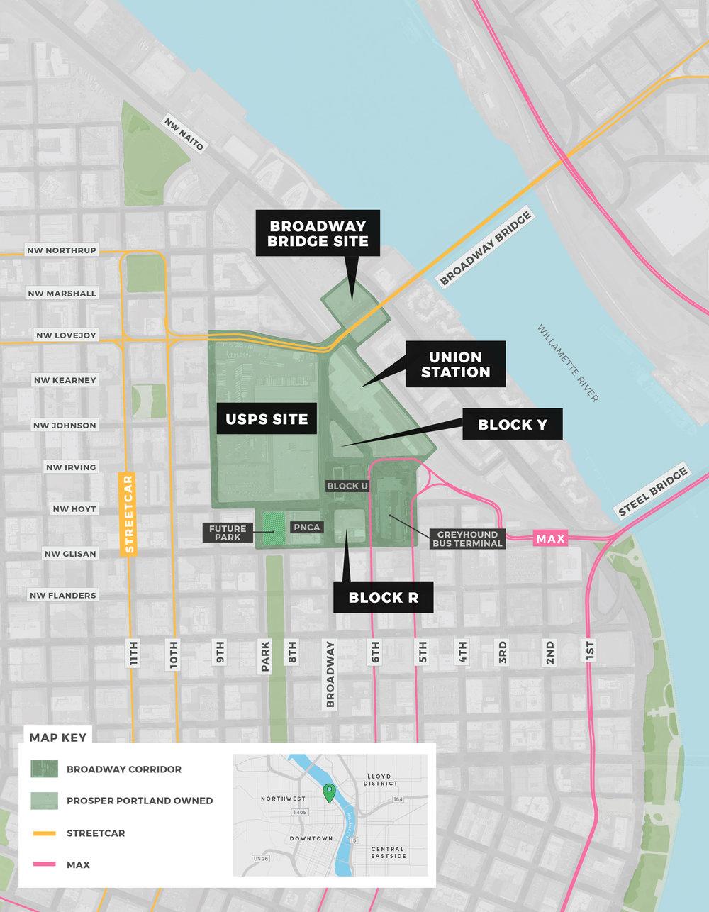 Broadway Corridor Map