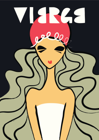 Woman in French Virgo astrology sign