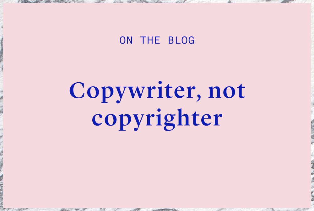 what does a copywriter do